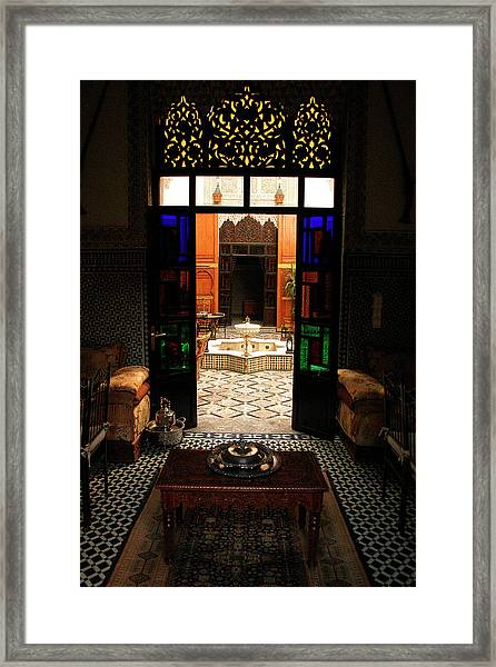Old Traditional Riad In Fez Framed Print by PIXELS  XPOSED Ralph A Ledergerber Photography