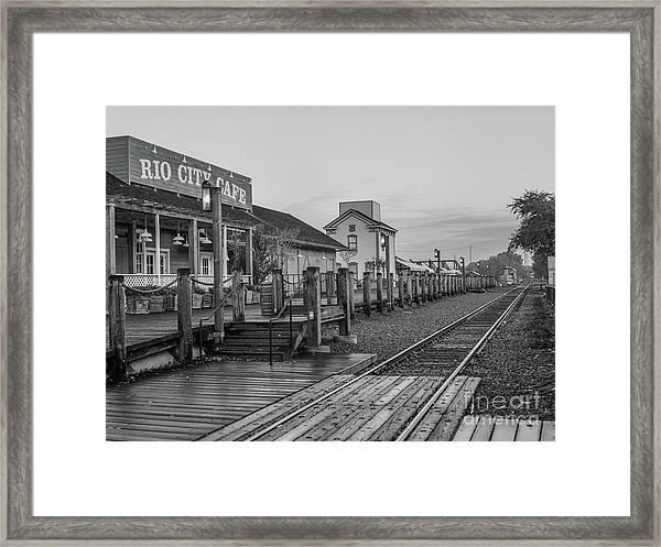 Old Train Station Framed Print
