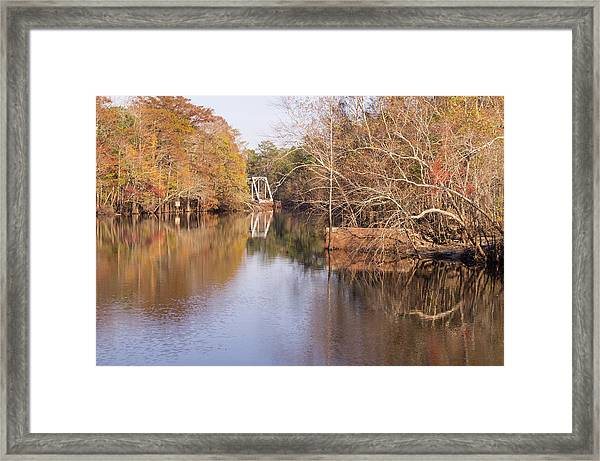 Old Trestle On The Waccamaw River Framed Print