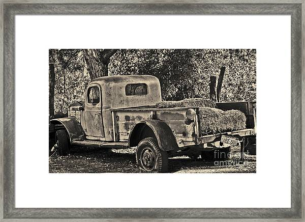 Old Truck Framed Print