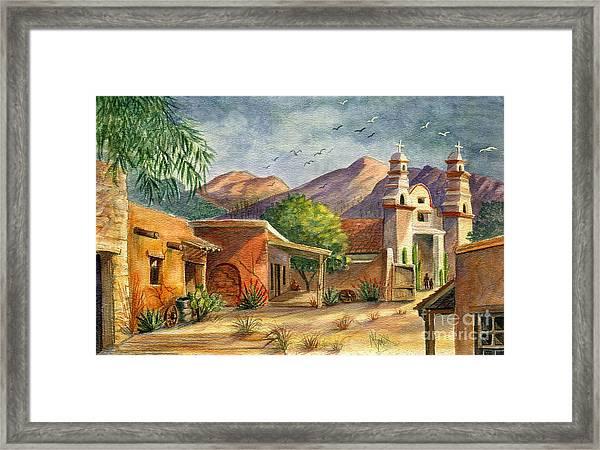 Old Tucson Framed Print