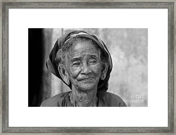 Old Vietnamese Woman Framed Print