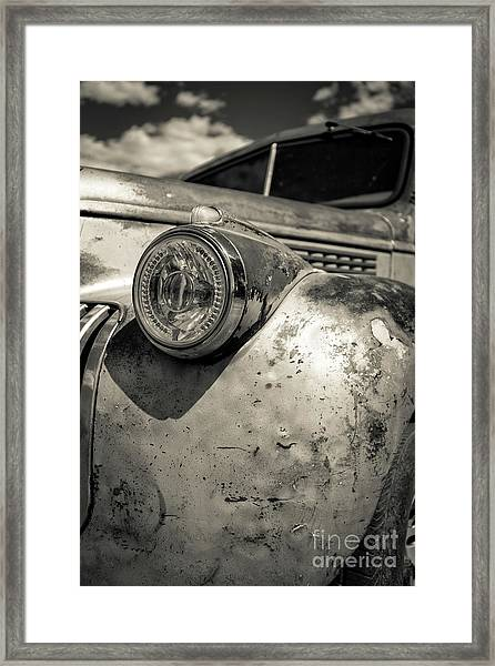 Old Weathered Pickup Truck Outside Of Kodachrome Basin State Park Framed Print