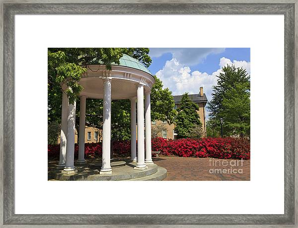 Old Well At Chapel Hill In Spring Framed Print