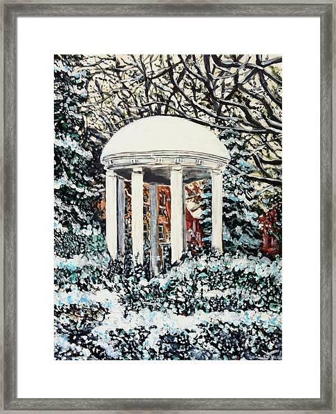 Old Well Winter Framed Print