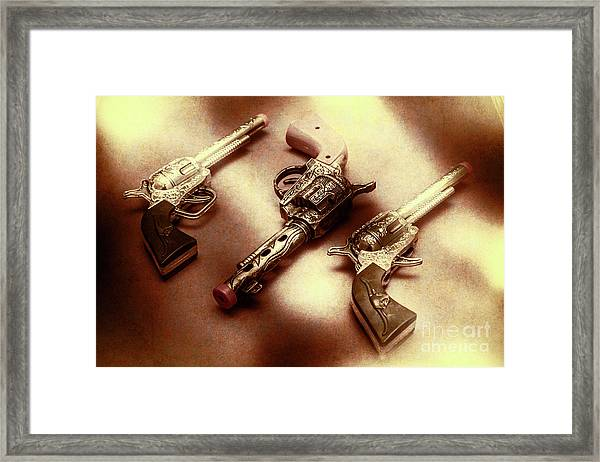 Old Western At Play Framed Print