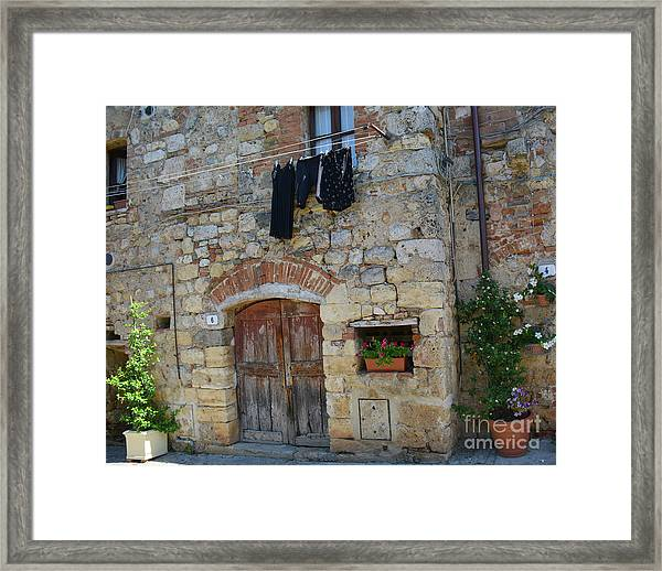 Old World Door Framed Print