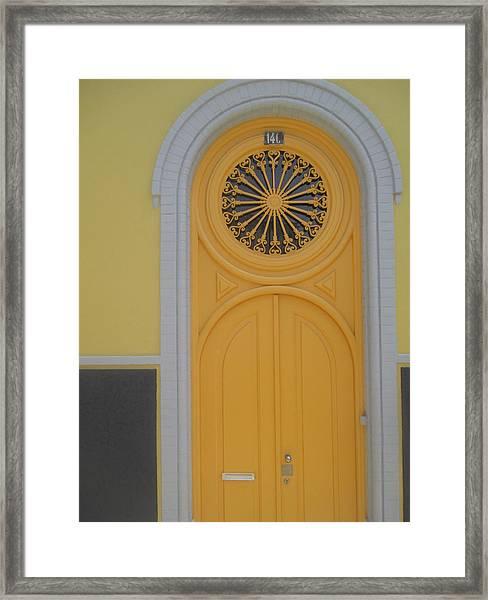 Old Yellow Door Framed Print