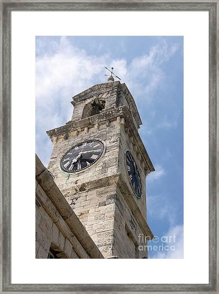 Olde Time Clock Framed Print