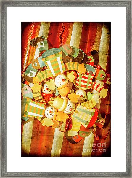 Olden Day Clown Show Framed Print