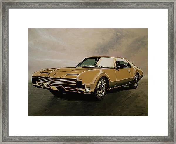 Oldsmobile Toronado 1965 Painting Framed Print