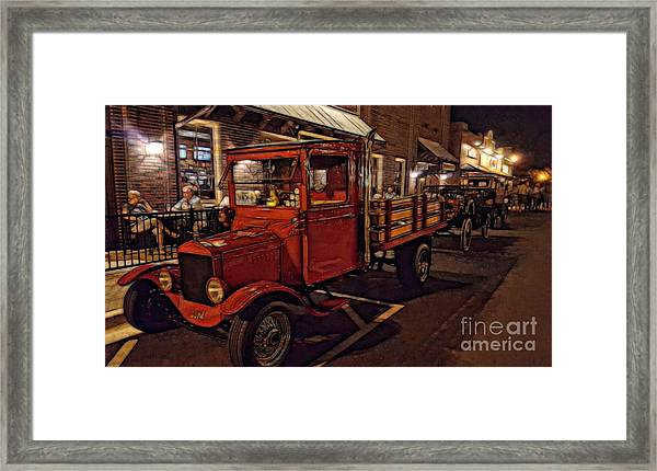 Ole Towne Happenings Framed Print