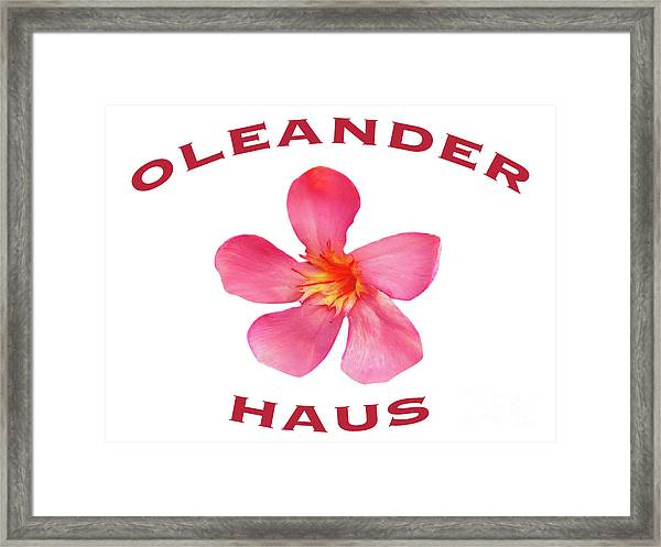 Oleander Haus Framed Print