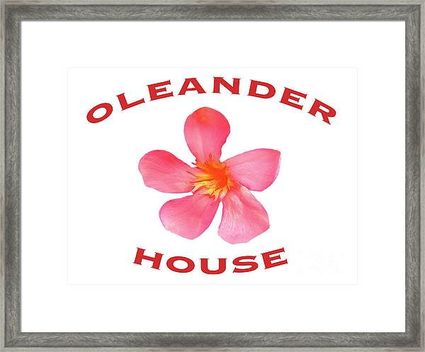 Oleander House Framed Print