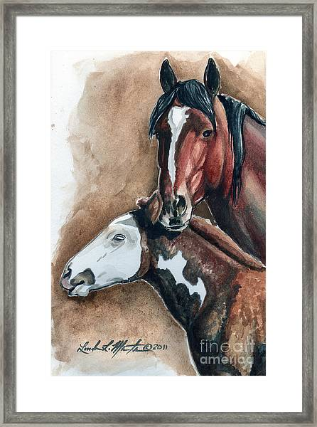 Olga And Pj Framed Print