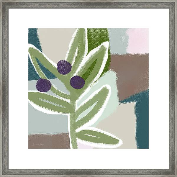 Olive Branch 1- Art By Linda Woods Framed Print