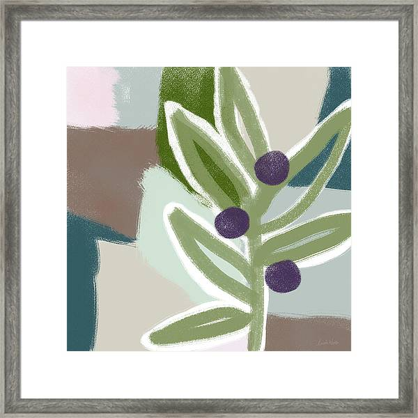Olive Branch 2- Art By Linda Woods Framed Print