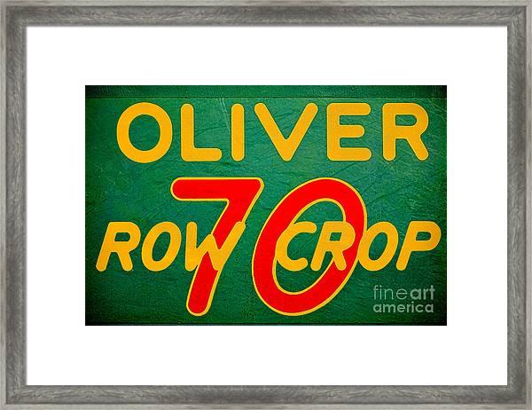 Oliver 70 Row Crop Framed Print
