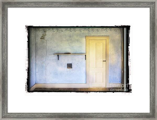 Olson White Door Framed Print