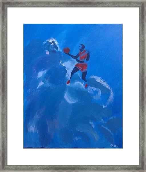 Omaggio A Michael Jordan Framed Print