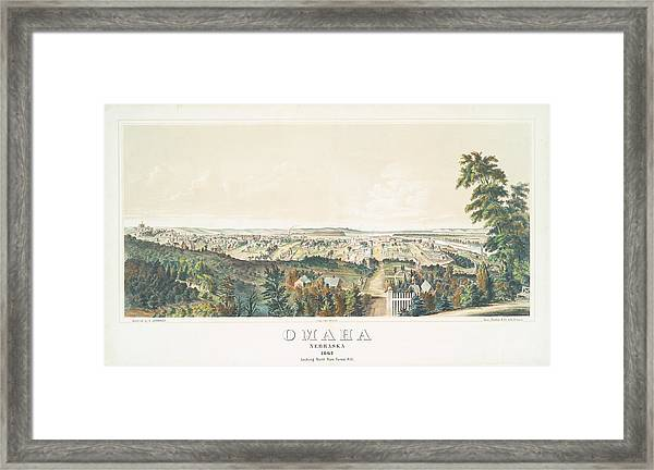 Omaha, Nebraska Looking North From Forest Hill 1867 Framed Print