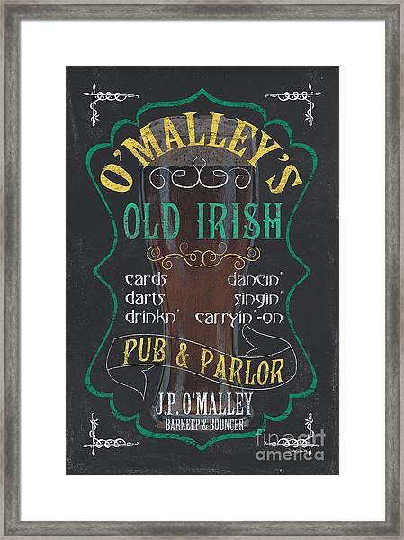 O'malley's Old Irish Pub Framed Print