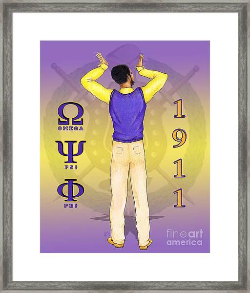 Omega Psi Phi Framed Print