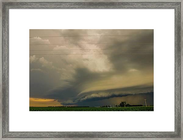Ominous Nebraska Outflow 007 Framed Print