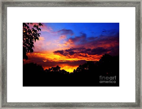 Ominous Sunset Framed Print