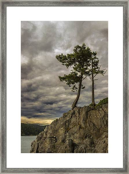 Ominous Weather Framed Print
