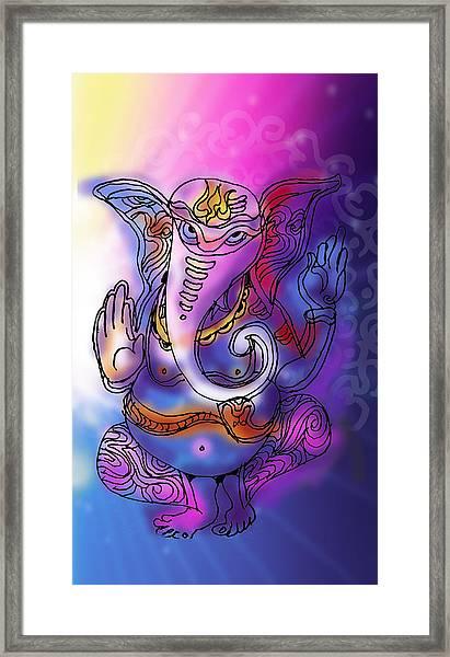 Omkareshvar Ganesha Framed Print