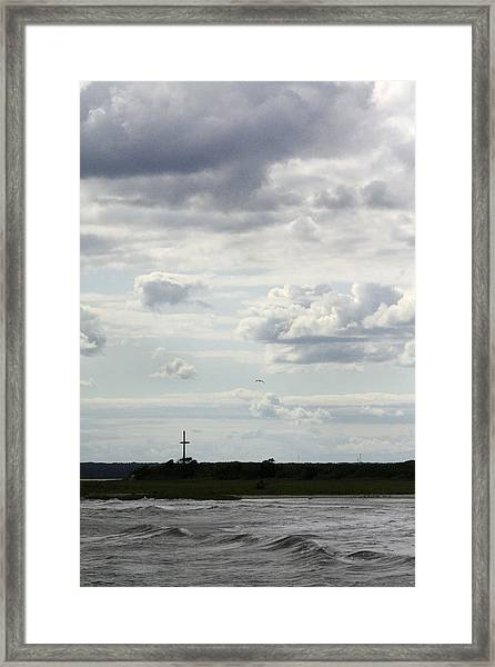 On A Hill Far Away Framed Print