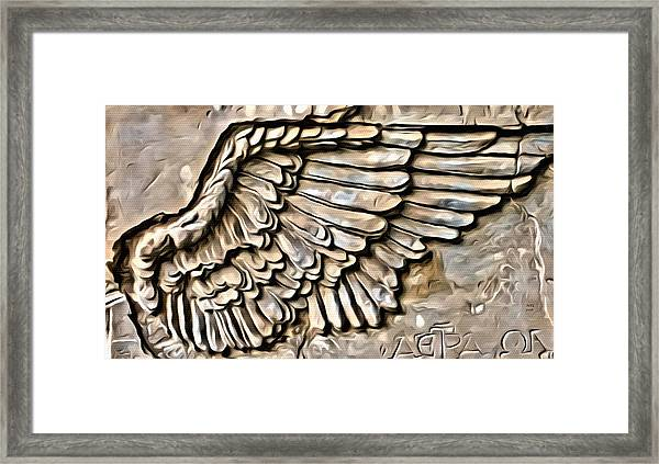 On Angels Wings Framed Print