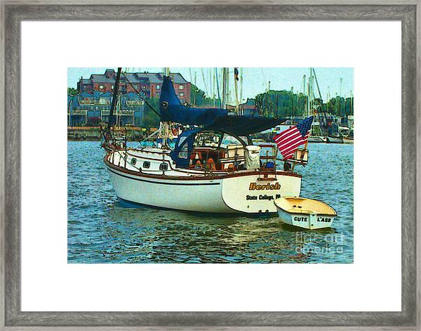 On Chesapeake Bay Framed Print