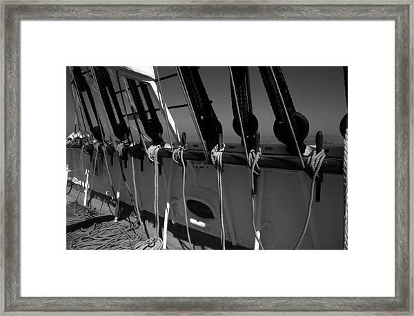 On Deck Starboard Side Framed Print