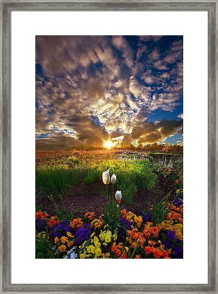 On Earth As It Is In Heaven Framed Print