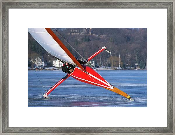 On Edge - Lake Geneva Wisconsin Framed Print
