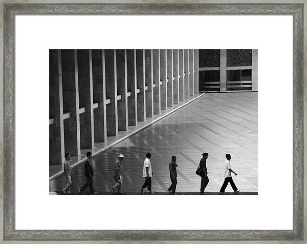 On Lane Framed Print