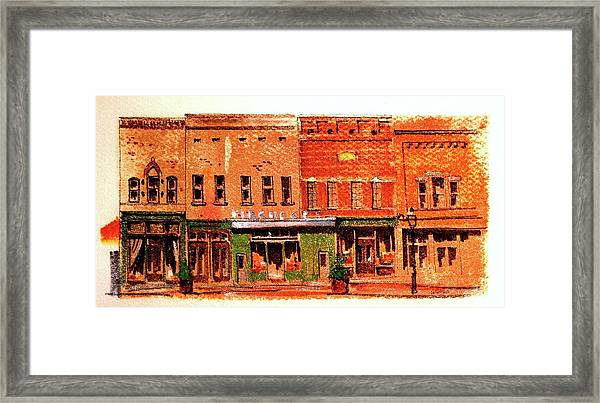 On Market Square Framed Print