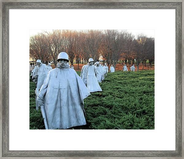 On Patrol The Korean War Memorial Framed Print