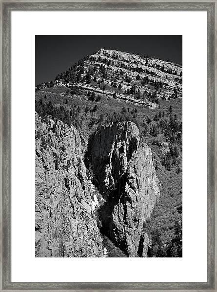 On Sandia Mountain Framed Print