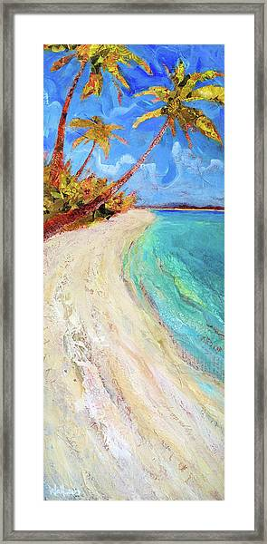 Framed Print featuring the painting On The Beach by Shelli Walters