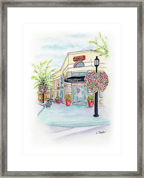 On The Corner Framed Print