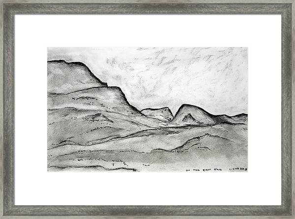 On The East Face Framed Print