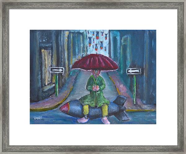 On The Edge Of Rainy Days And Mondays Framed Print