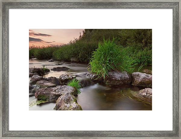 On The Edge Of Time Framed Print