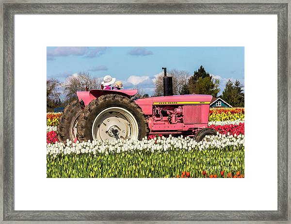 On The Field Of Beauty Framed Print