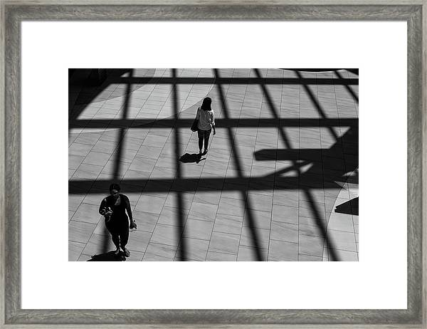 Framed Print featuring the photograph On The Grid by Eric Lake