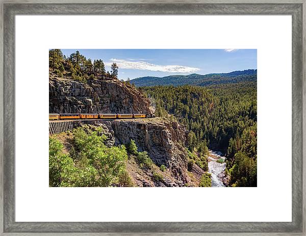 On The High Line - Durango-silverton Narrow Gauge Railroad Framed Print