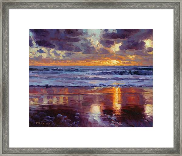 On The Horizon Framed Print